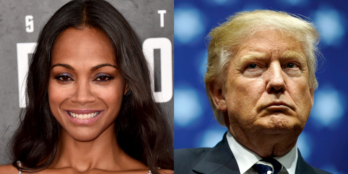 Zoe Saldana: Trump Won Because Hollywood 'Got Cocky, Became Arrogant Bullies'