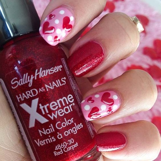 NAIL ART FOR VALENTINES