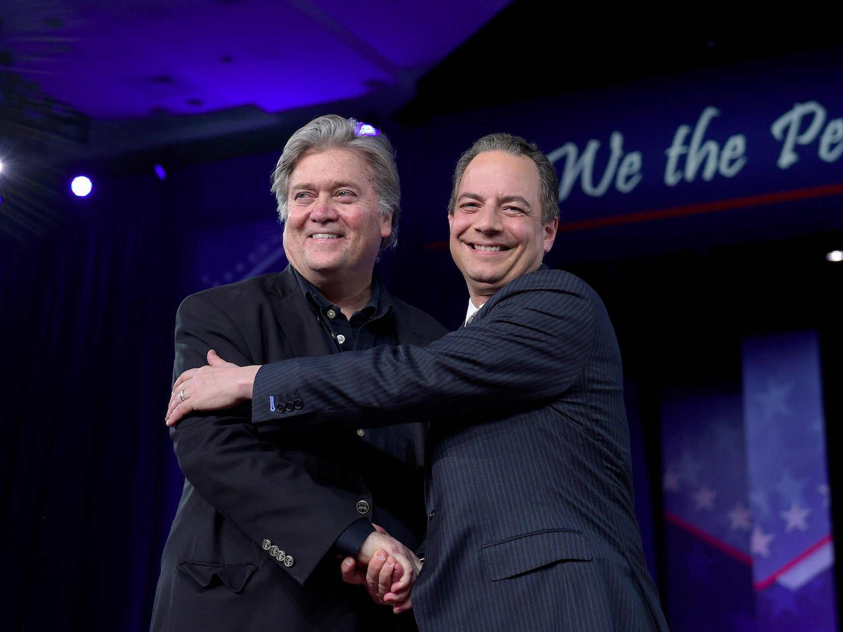 Steve Bannon and Reince Priebus live at CPAC