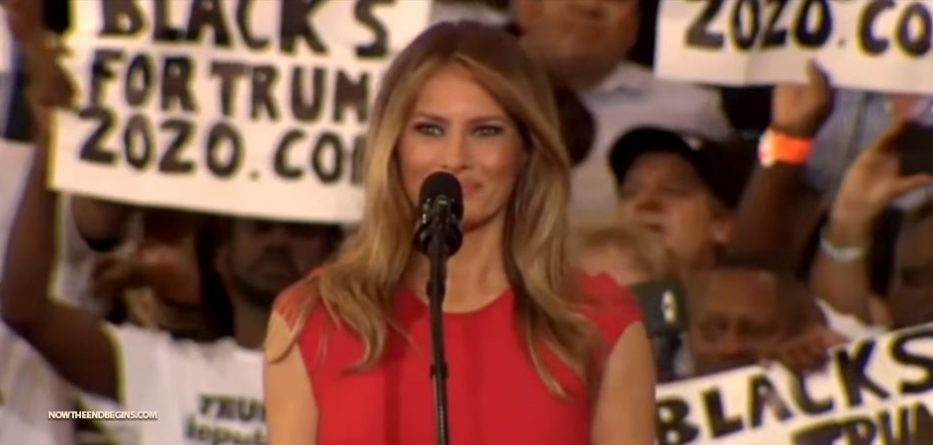 Melania Trump attacked for reciting 'The Lord's Prayer' at campaign rally