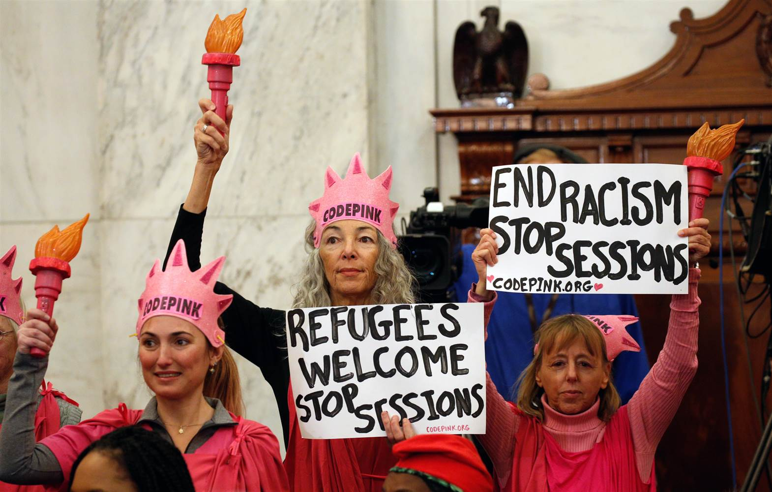 Code Pink Protesters Convicted for Disrupting Jeff Sessions Hearing
