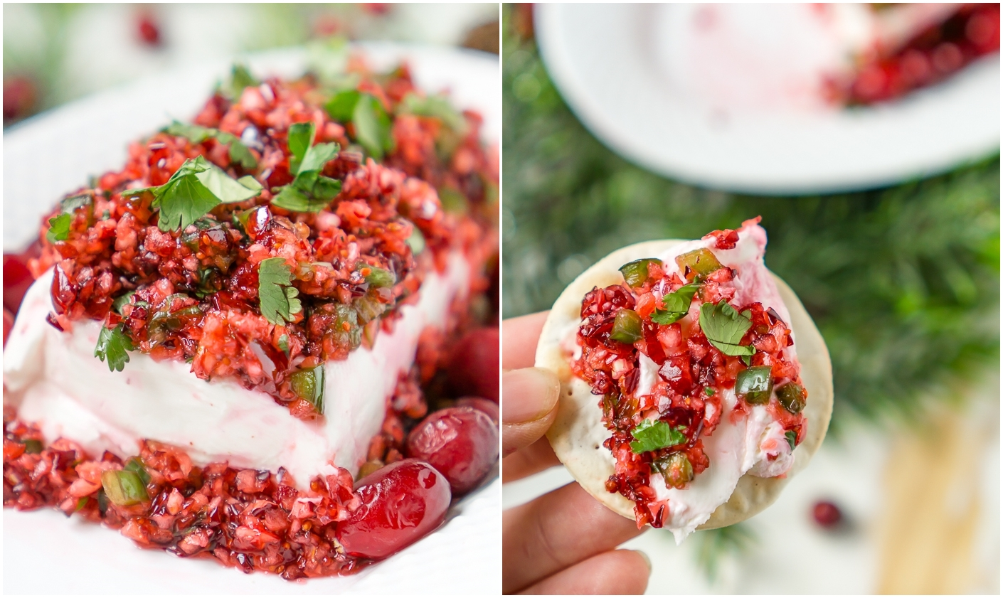 JALAPENO CRANBERRY CREAM CHEESE DIP