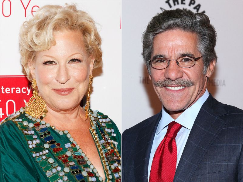 Bette Midler Accused Geraldo Rivera of Groping Her in 1991
