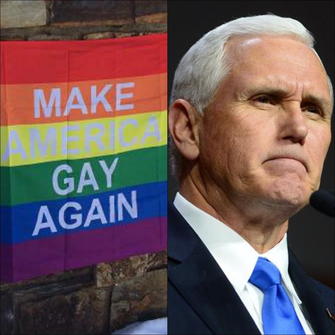 Mike Pence's Aspen-area neighbors hung 'Make America Gay Again' sign