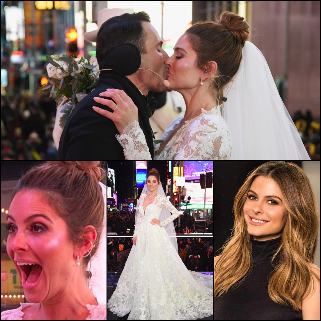 Last night, Maria Menounos got married in a surprise ceremony officiated by Steven Harvey on live TV
