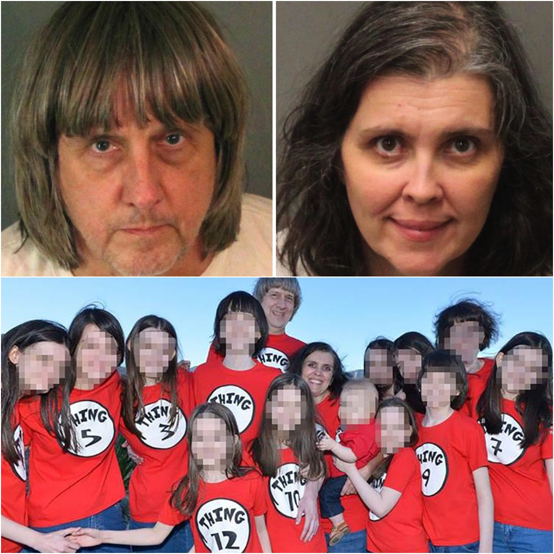 Couple was arrested after police discovered thattheir 13 childrenhad been held captive in their California home in filthy conditions, some shackled to beds with chains and padlocks