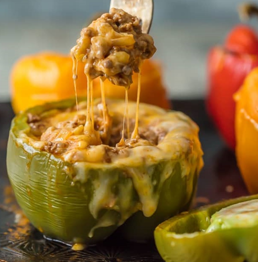 Cheesy Enchilada Stuffed Peppers