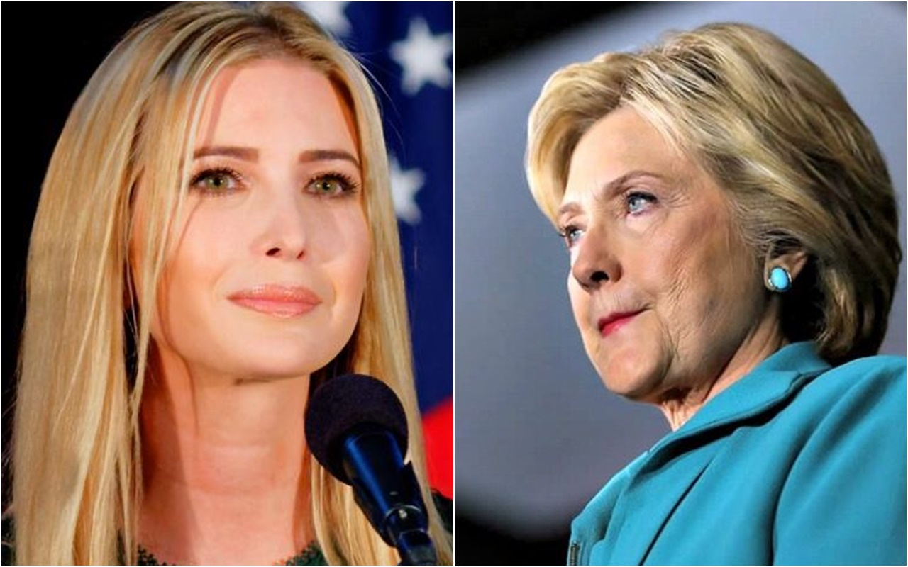 "WATCH: Hillary's Reaction As She's Told Ivanka Trump Could Be ""First Female President"""