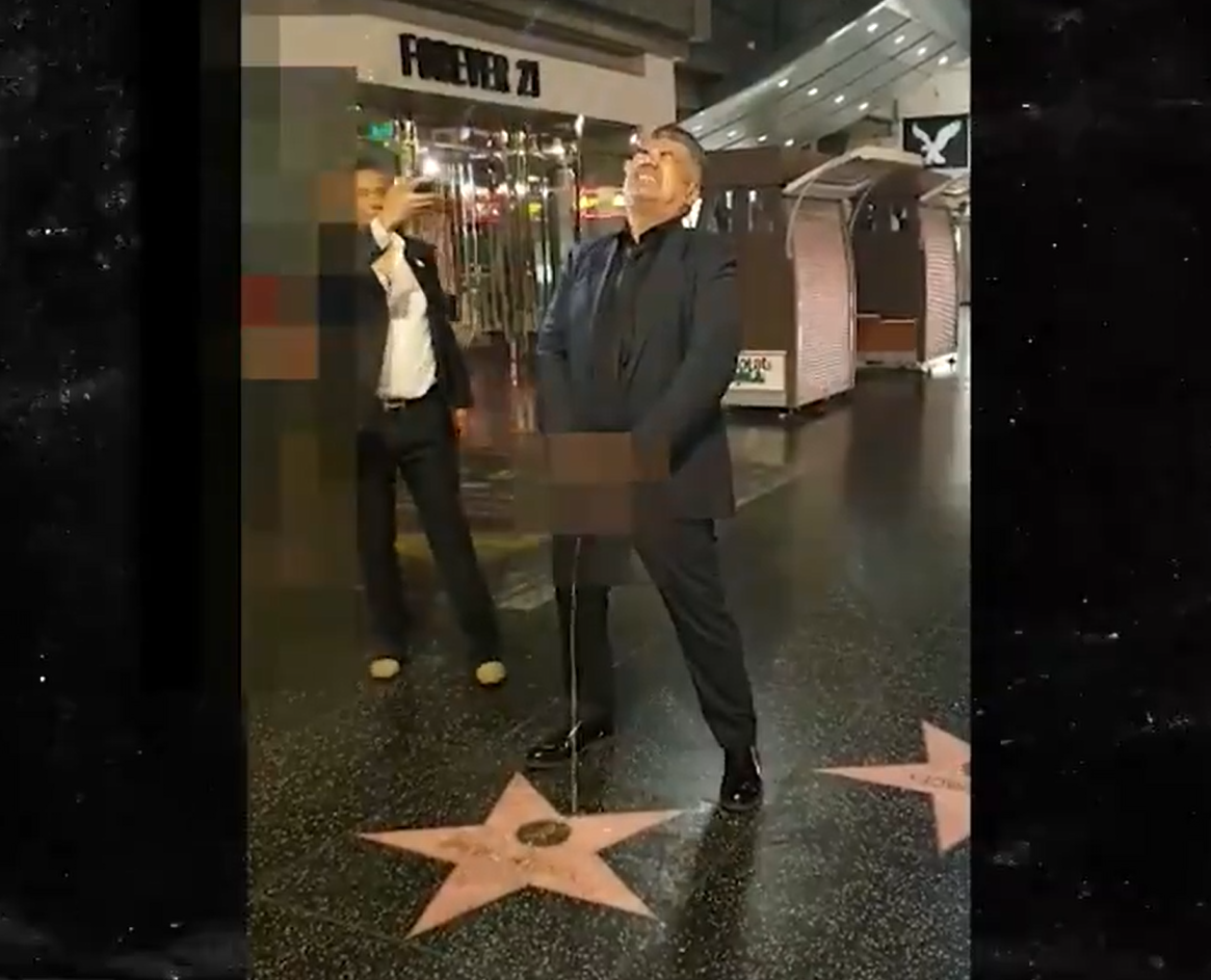 George Lopez Pretends To Urinate On Donald Trump's Hollywood Star