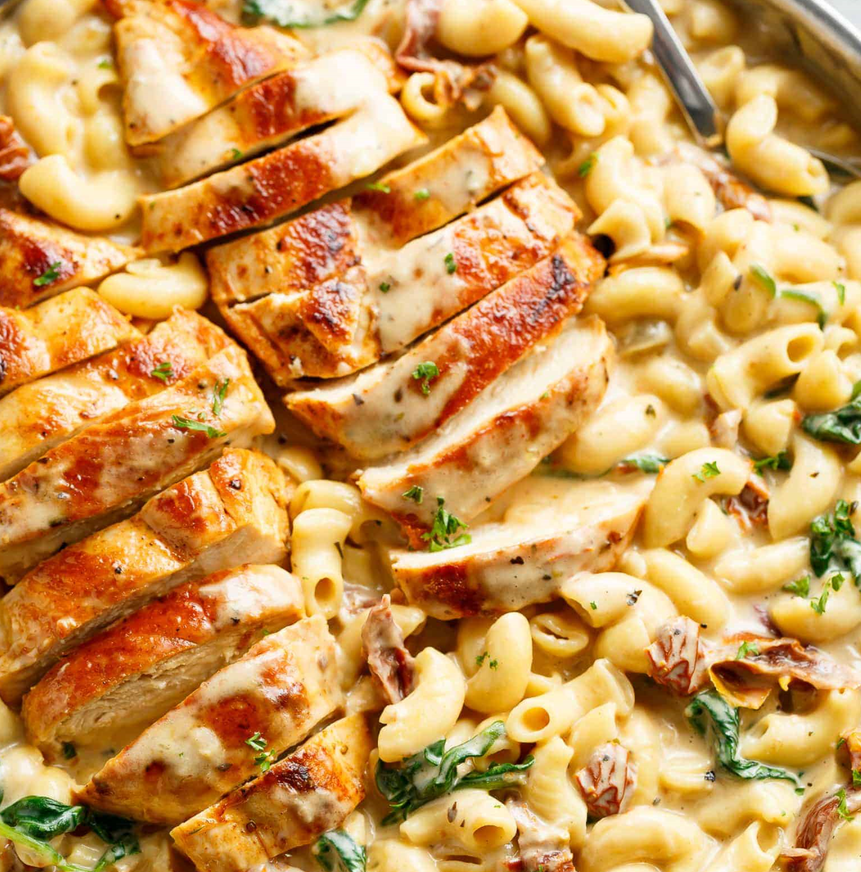 Tuscan Chicken Mac And Cheese