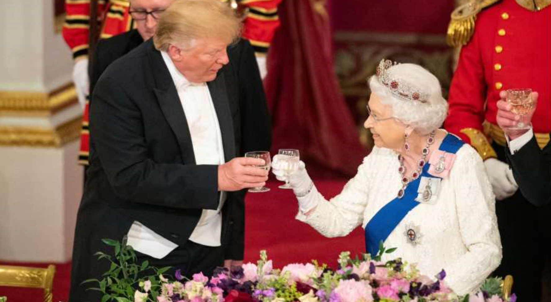 President Trump and Melania Receive Royal Welcome At Buckingham Palace