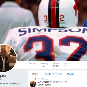 OJ Simpson On Twitter, Says He's 'got a little getting even to do'