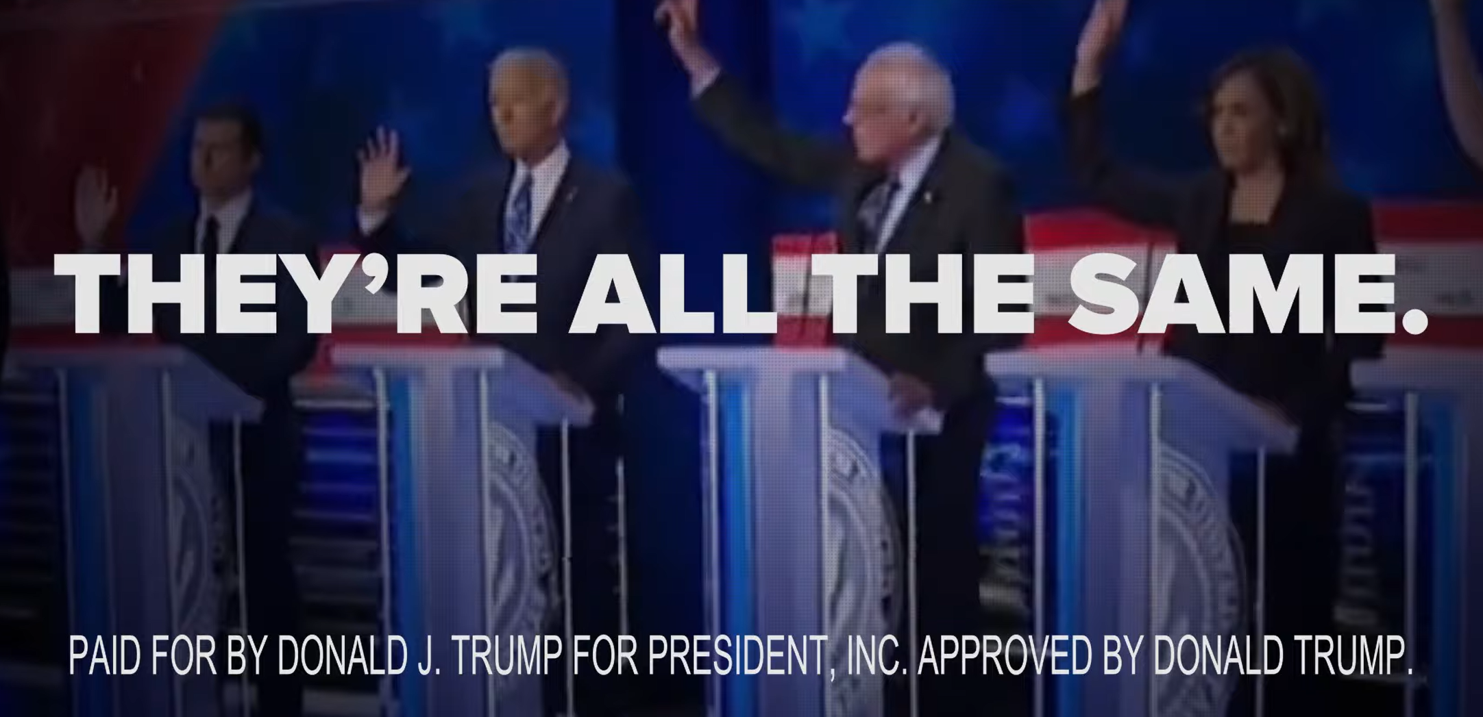 "Trump Campaign States Democrats are ""putting illegal immigrants before hardworking Americans,"" In An Ad Airing During Debate"
