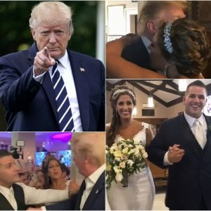 President Trump Crashes Wedding At His NJ Country Club and Shares a Kiss and a Hug With The Bride